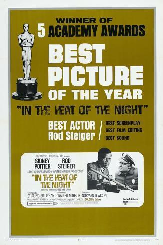 In the Heat of the Night, US poster, Sidney Poitier, Rod Steiger, 1967 Kunstdruk