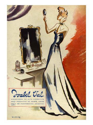 Isabel Val, Magazine Advertisement, Spain, 1942 Giclée-Druck