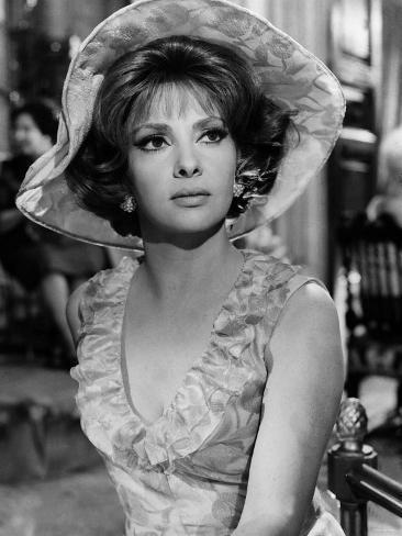Italian Actress Gina Lollobrigida in the 1960s Fotografie-Druck