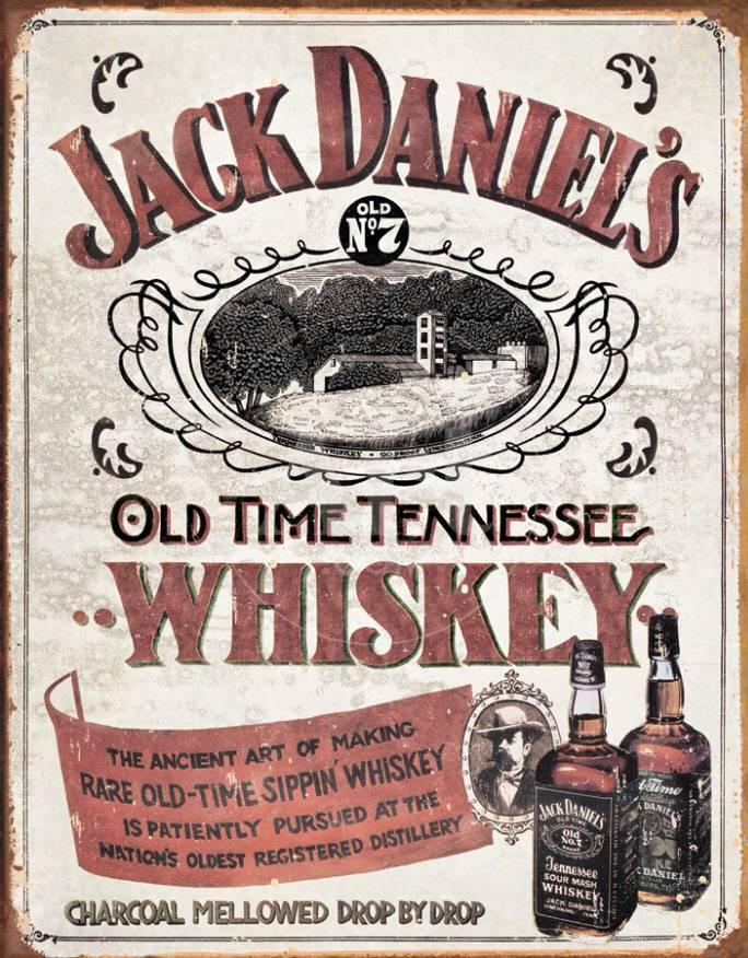 Jack Daniels - Old Time Tennessee Whiskey Blechschild bei AllPosters.de
