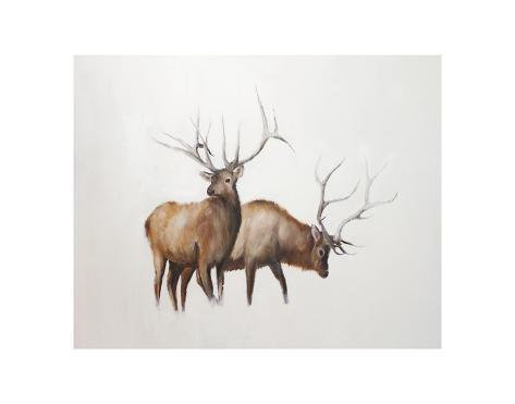 Two Elk Kunstdruck