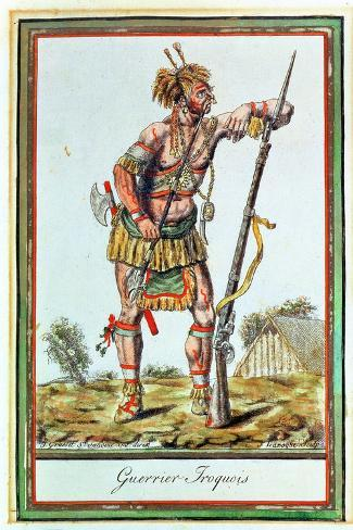 Iroquois Warrior, from 'Encyclopedie Des Voyages', Engraved by J. Laroque, 1796 Giclée-Druck