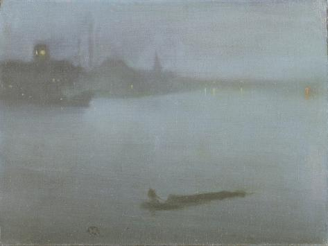 Thames - Nocturne in Blue and Silver, c.1872/8 Giclée-Druck