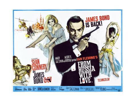 James Bond 007– Liebesgrüße aus Moskau Kunstdruck