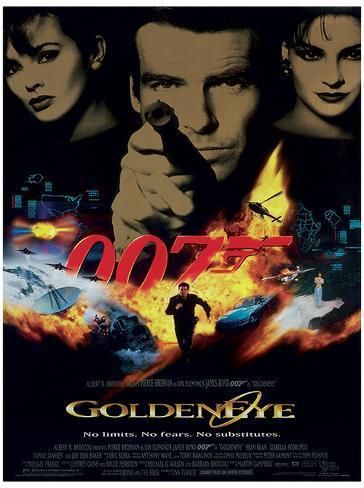 James Bond (Goldeneye One-Sheet) Movie Poster Print Neuheit