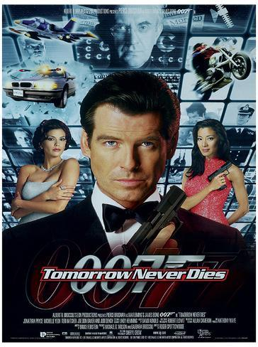 James Bond (Tomorrow Never Dies One-Sheet) Movie Poster Print Neuheit