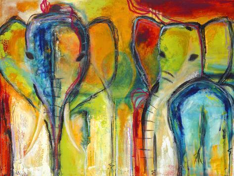 Elefanten Kunstdruck