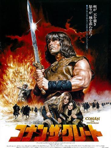 Japanese Movie Poster - Conan the Barbarian Gicléedruk