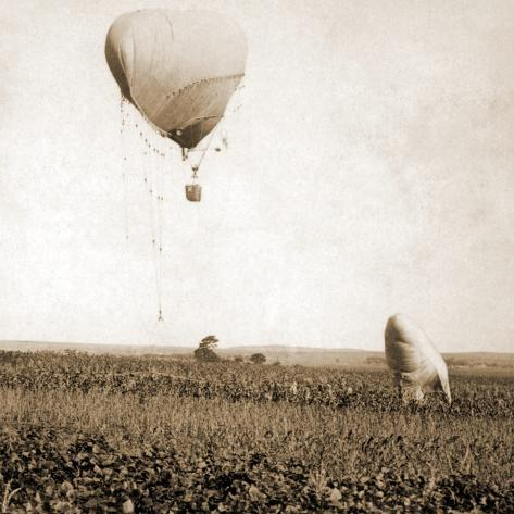 Japanese War Balloons, Port Arthur, Lüshunkou District, China, 1904 Fotografie-Druck