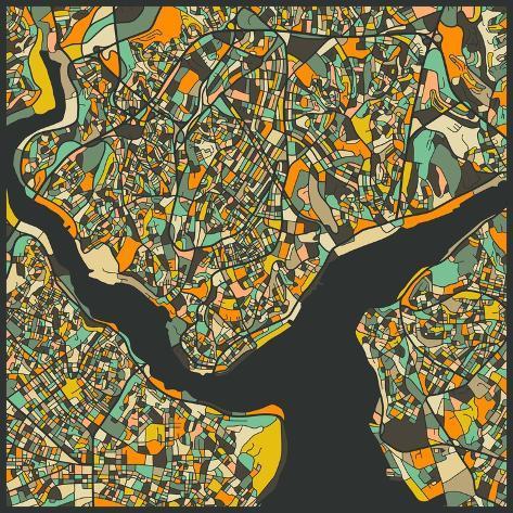 Istanbul Map Kunstdrucke von Jazzberry Blue bei AllPosters.de