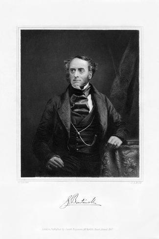 Lord George Cavendish Bentinck, English Statesman and Sportsman, C1840S Giclée-Druck