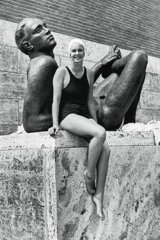 Jeanette Campbell, Argentine Swimmer, Berlin Olympics, 1936 Giclée-Druck