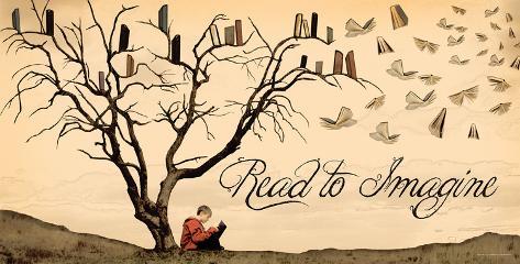 Read to Imagine Kunstdruck