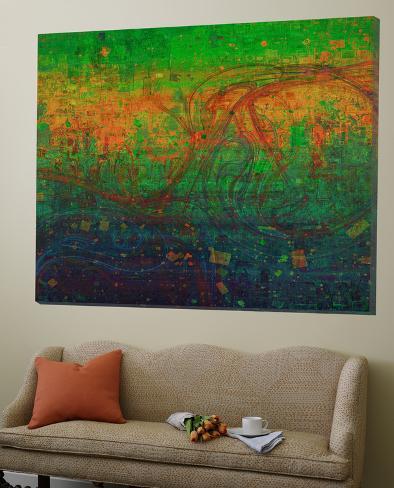 gr n abstrakte kunst poster von jefd bei. Black Bedroom Furniture Sets. Home Design Ideas