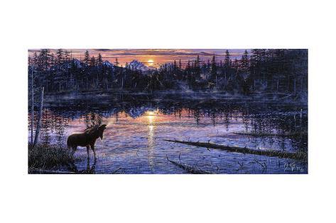 Moose Lake Giclée-Druck