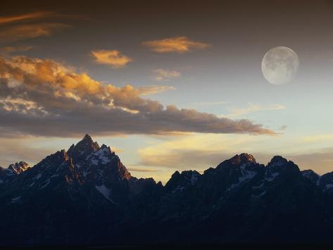 Sunset over Teton Range Fotografie-Druck