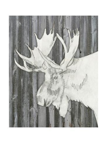 Barnwood Lodge Sketch I Kunstdruck
