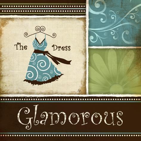 Glamourös Kunstdruck