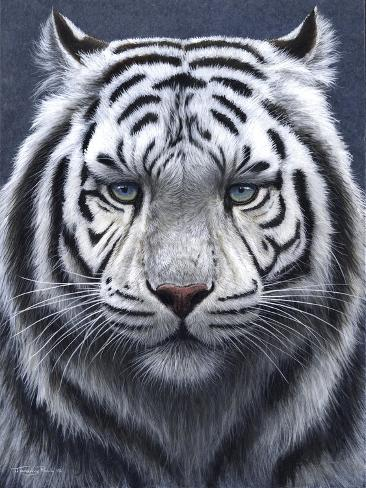 White Tiger Ghost Giclée-Druck