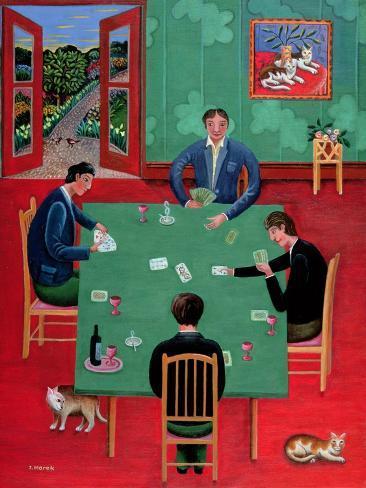 Karten spielen Giclée-Druck
