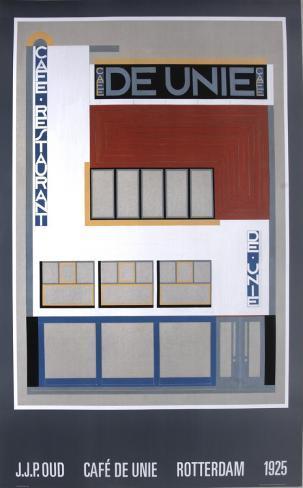 Zeer Cafe De Unie, Rotterdam Poster van JJP Oud bij AllPosters.nl &EQ52