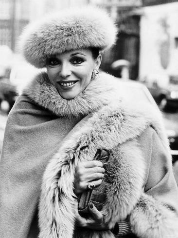 Joan Collins Actress, April 1985 Fotografie-Druck