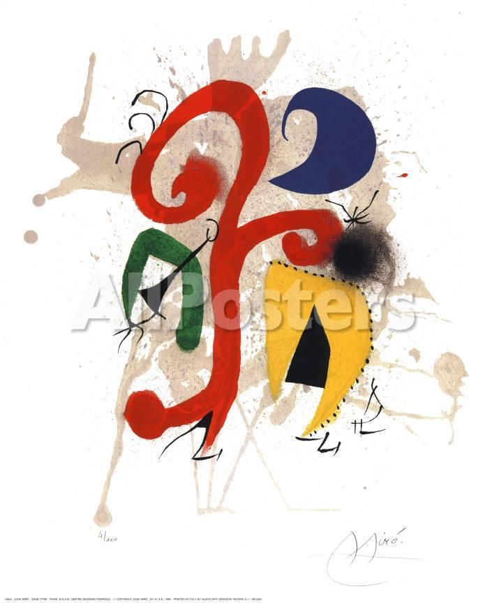 Abstrakte Kunst Kunstdrucke von Joan Miró bei AllPosters.de