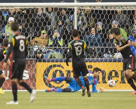 2014 MLS Western Conference Championship: Nov 30, LA Galaxy vs Seattle Sounders - Jaime Penedo Foto