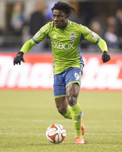 2014 MLS Western Conference Championship: Nov 30, LA Galaxy vs Seattle Sounders - Obafemi Martins Foto