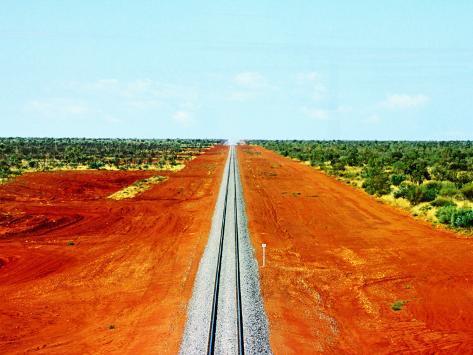 Alice Springs to Darwin Railway Line Fotografie-Druck
