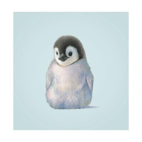 Pinguin Giclée-Druck