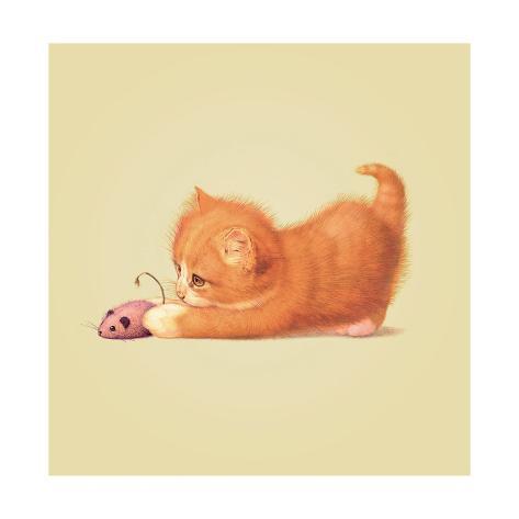 Surpise-Cat Giclée-Druck