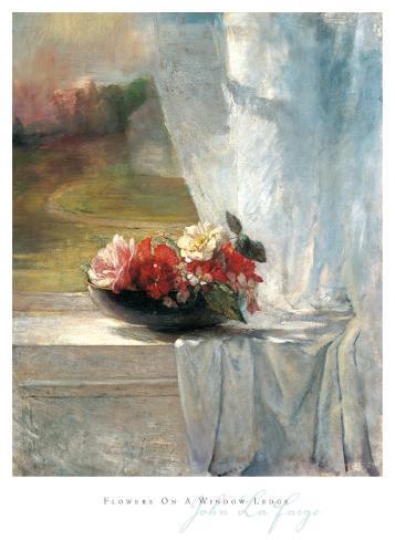 Blumen Auf Einer Fensterbank Kunstdrucke Von John Lafarge Bei