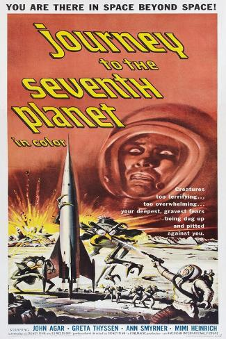JOURNEY TO THE SEVENTH PLANET, poster art, 1962 Giclée-Premiumdruck