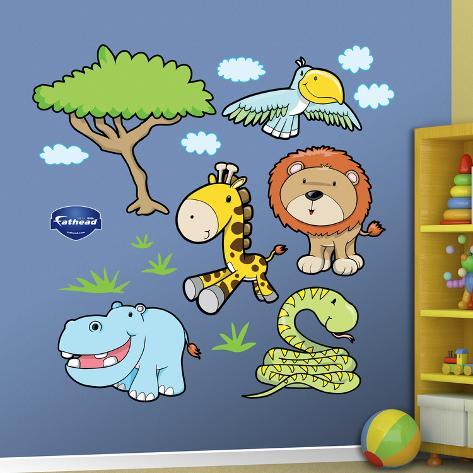 Jungle animals 3 wandtattoo bei - Jungle wandtattoo ...