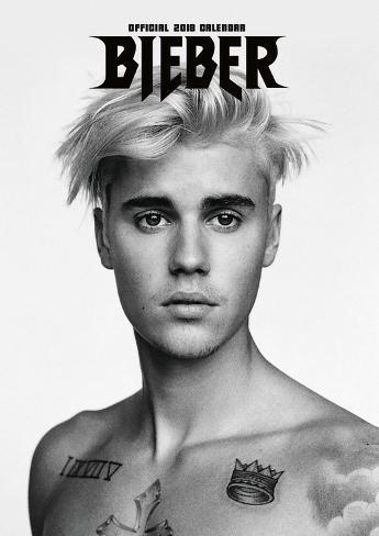 Justin Bieber 2018 A3 Calendar Kalender Allpostersat