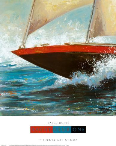 Yacht Club I Kunstdruck