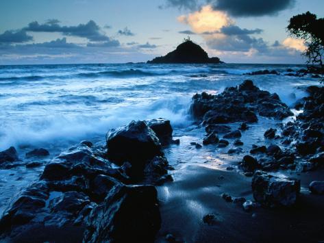 Alau Island from Koki Beach, Hana, Maui, Hawaii, USA Fotoprint