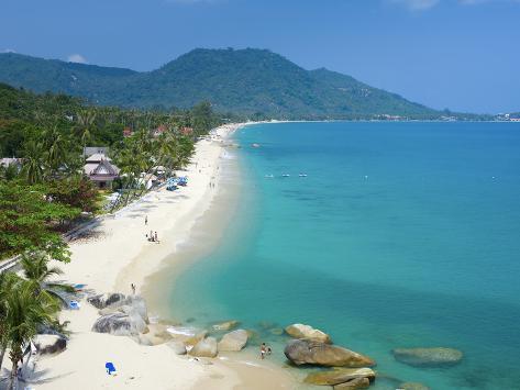 Lamai Beach Ko Samui Island Thailand Fotoprint