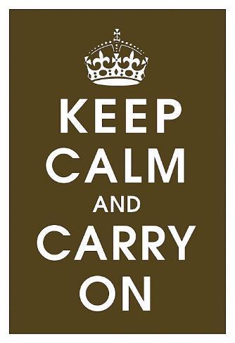 Keep Calm (chocolate) Kunstdruck