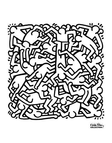 Party Of Life Invitation 1986 Poster Van Keith Haring Bij