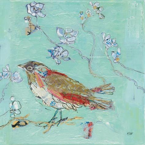 Aqua Bird Kunstdruck