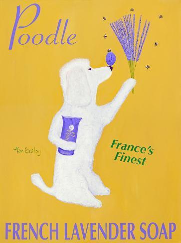 Poodle French Lavender Soap Kunstdruck