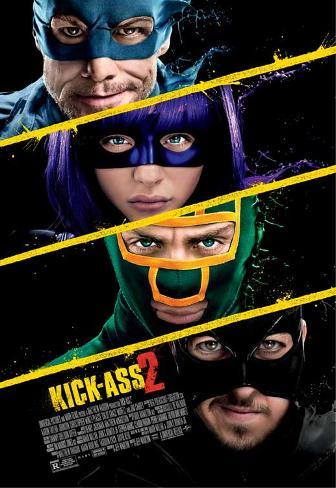 Kick-Ass 2 (Aaron Taylor-Johnson, Chloe Grace Moretz) Movie Poster Neuheit