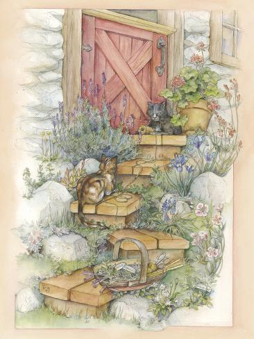 Gardener's Helpers Giclée-Druck