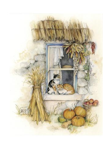 Harvest Cats Giclée-Druck