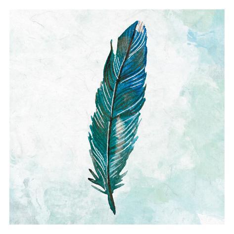 Feathered Blues 2 Kunstdruck