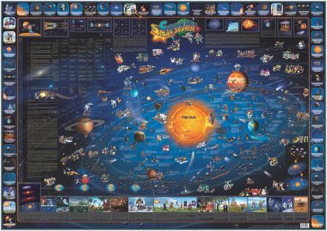 Kinder Karte von the Solar System, Laminated Educational Poster Laminiertes Poster