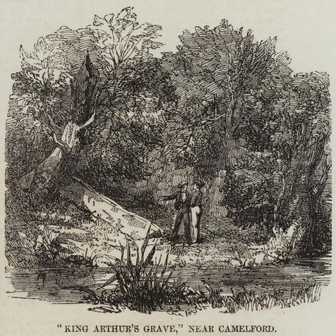 King Arthur's Grave, Near Camelford Giclée-Druck