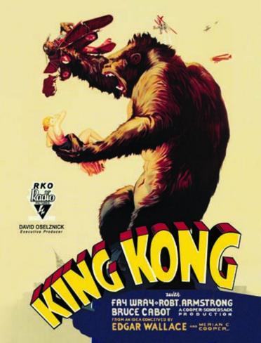 King Kong Blechschild